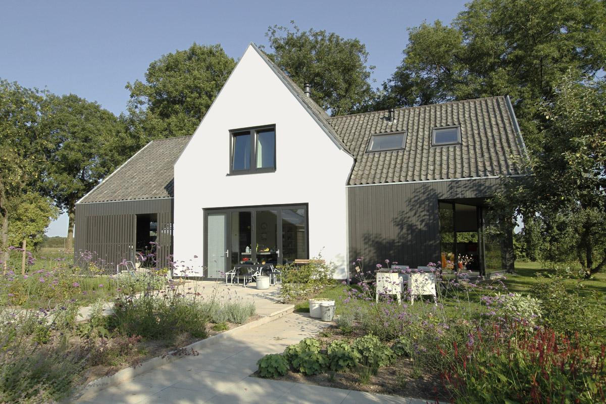Lukas de jong architectuur architect utrecht nieuwbouw achterweg 6 culemborg - Huis architect hout ...